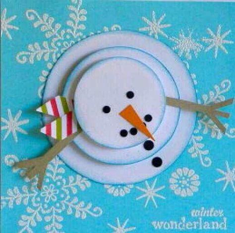 Картинка, открытка объемный снеговик своими руками