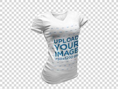 Download Placeit Women S V Neck Tee Invisible Model Mockup Mockup Generator Shirt Mockup Clothing Mockup