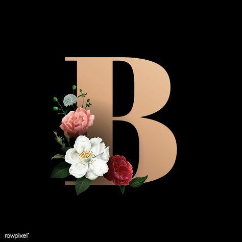 Download Premium Vector Of Classic And Elegant Floral Alphabet Font Letter Lettering Alphabet Fonts Fonts Alphabet Lettering Fonts