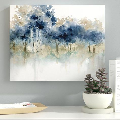 Ebern Designs 'Waters Edge III' Print on Wrapped Canvas | Wayfair