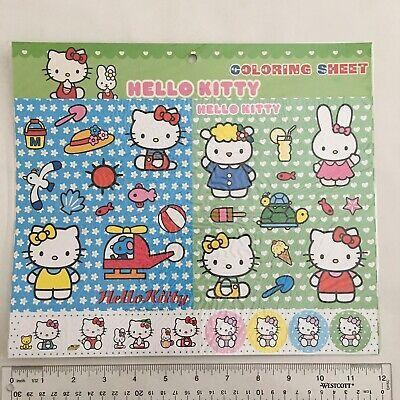Sanrio Hello Kitty And Mimmy Stickers Coloring Sheet Ocean Reuseable Activity Sanrio Hello Kitty Hello Kitty Hello Kitty Water Bottle