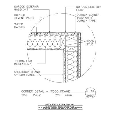 Image Result For 1 Hour Wood Wall Assembly Transition Cement Panels Wood Studs Wood Wall
