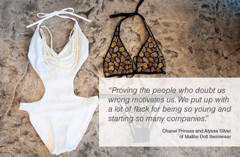 CRAVE Inspiration from Chanel Prineas and Alyssa Silver of Malibu Doll Swimwear