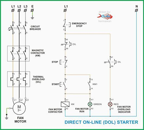 Dol Starter Panel Wiring Diagram Save Start Stop And Motor ... on