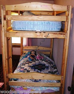Details About Bunk Bed Paper Patterns Build King Queen Full Twin