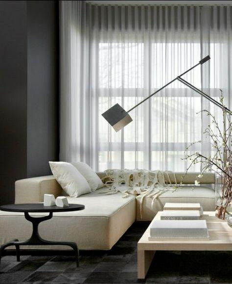 transparent gardinen ideen moderne vorhänge | wohnideen, Schlafzimmer entwurf