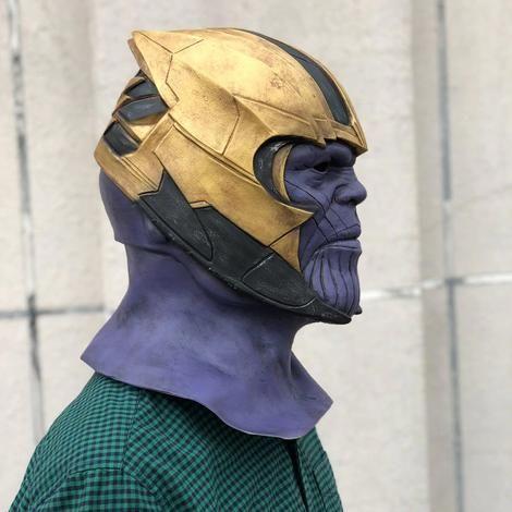 New Endgame Thanos Mask Infinity War Avengers EndGame Costume Mask Handmade