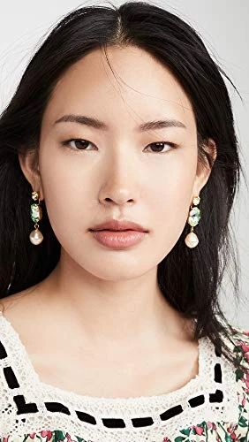 Jennifer Behr Women's Meredith Earrings, Jonquil, Green, Gold, One Size