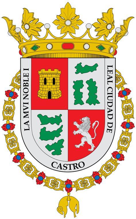 Escudo De La Ciudad De Castro Escudo De Armas Escudo Insignias