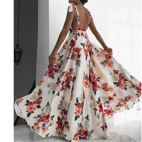 Sexy Maxi Dress, Backless Maxi Dresses, Sexy Dresses, Beach Dresses, Boho Dress, Bow Dresses, Long Dress Fashion, Flowery Dresses, Woman Dresses
