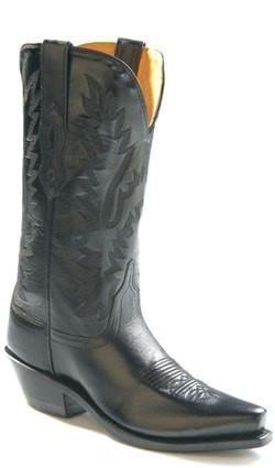 abdfb2fd876 El Dorado Men's Genuine Sueded Hippo Western Boots | Men's black ...