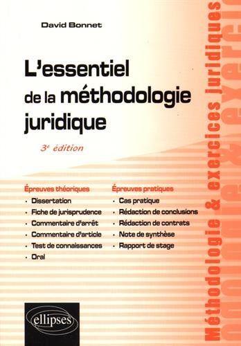 Telecharger L Essentiel De La Methodologie Juridique Pdf Par David Bonnet Votre Fichier Ebook Maintenant Langenhagen Dissertation