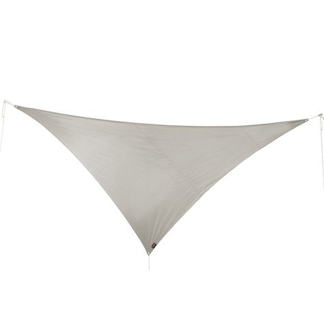 Voile Dombrage Triangulaire Gris Alu L540 X L390 Cm