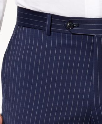 3b01dc56 Tommy Hilfiger Men's Modern-Fit Th Flex Stretch Navy Pinstripe Suit Pants -  Blue 32x34