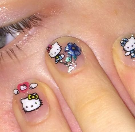 hello kitty on the nail! wow March 22 2020 at nails Nail Swag, Photowall Ideas, Hello Kitty Nails, Hello Kitty Makeup, Hello Kitty Clothes, Cat Nails, Dream Nails, Pink Aesthetic, Nail Inspo