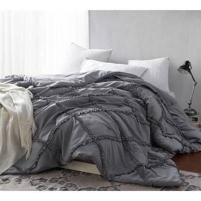 Germain Reversible Comforter Set Reviews Birch Lane Bed Comforters College Bedding Twin Xl Bedding