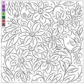 Nicole S Free Coloring Pages Color By Number Clematis In 2020 Fall Coloring Pages Clematis Coloring Pages