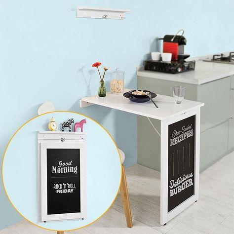 Tavolo Ribaltabile Da Parete Cucina.Tavolo A Muro Tavolo Pieghevole Tavolo Cucina Bianco Con Lavagna