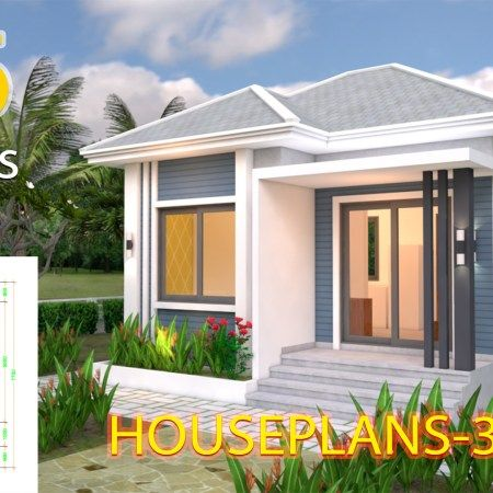 Sketchup House Modeling Idea From Photo 8x10m Samphoas Plan Home Design Plans Modern House Plans Small House Design