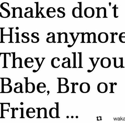 Theses niggas snakes so you better watch who you trust,the same nigga you kick it with is the same nigga thatll get you fu*ked up. Fake Ppl Quotes, Fake Friends Quotes Betrayal, Fake Friend Quotes, Sarcastic Quotes, People Quotes, True Quotes, Words Quotes, Quotes To Live By, Funny Quotes