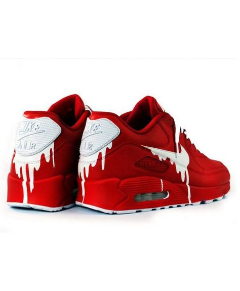 Nike Air Max 90 Candy Drip Dark Red White Trainers | RED