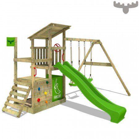 Spielturm Fruityforest Fun Xxl Kletterturm Mit Schaukel Und Rutsche Schaukel Rutsche Spielturm Und Kletterturm