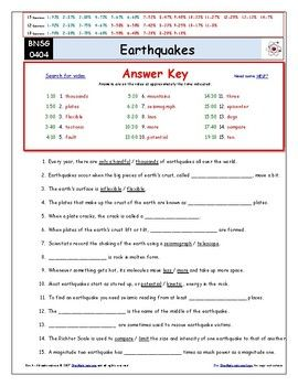 Differentiated Video Worksheet Quiz Ans For Bill Nye Earthquakes Bill Nye Science Guy Magic School Bus