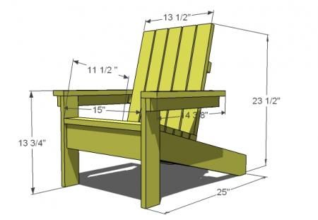 Ana White | Build a How to Build a Super Easy Little Adirondack Chair | Free and Easy DIY Project and Furniture Plans