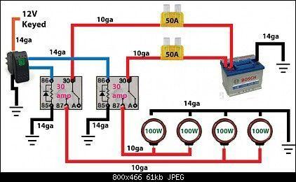 Off road light wiring diagram -. | Automotive electrical, Automotive  repair, Car mechanicPinterest