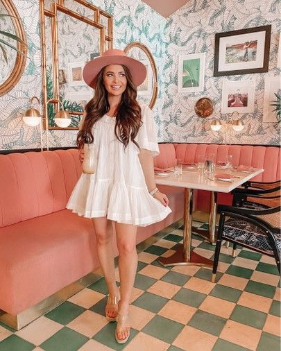 White Dress Perfect Spring Dress Wearing An Xs It S Sheer So Linked The Slip I Wore Under It Also In 2020 Summer Fashion Outfits Fashion Fashion Inspiration Design