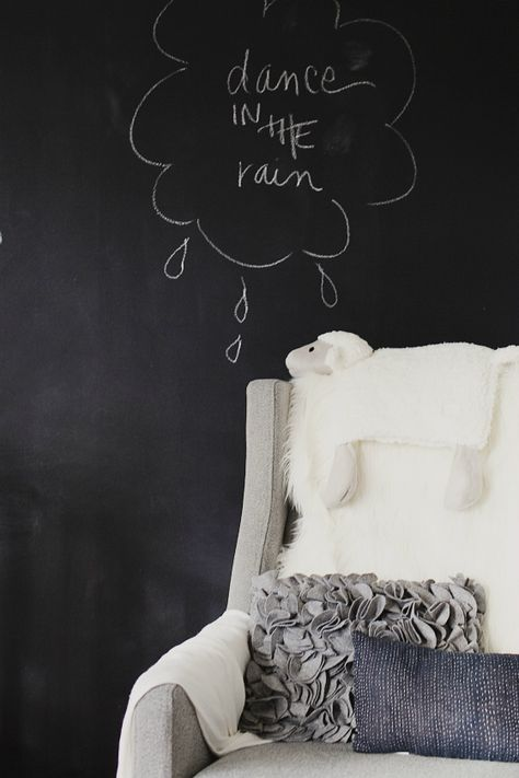 Chalkboard Paint, Nursery by Christina Loucks Ahumada #chalkboardpaint #projectnursery