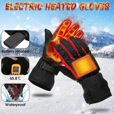 Ebay Advertisement Electric Heated Gloves Winter Warmer Unisex Motorcycle Skiing Sport Bike Fishing Heated Gloves Warm Gloves Gloves Winter