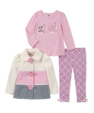 Pink Fleece Coat Jacket Outfit Kids Headquarters Girls 5 Shirt Pants