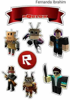 Roblox Free Printable Cake Toppers Free Birthday Stuff Party Printables Free Roblox