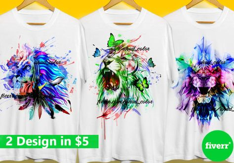 For Only 5 I Will Do Awesome Watercolor Tshirt Design Shirt