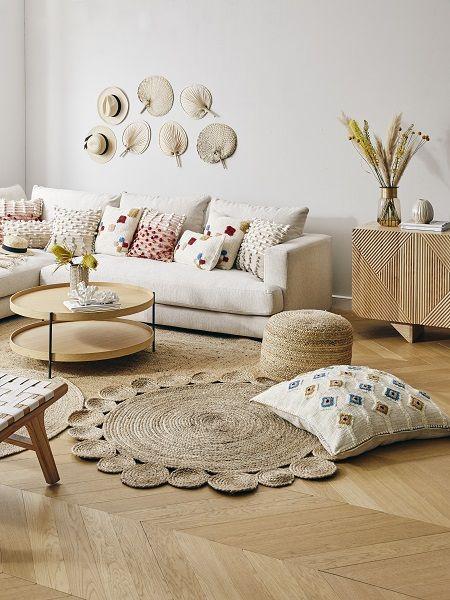 Runder Jute Teppich Niago Im Boho Style Handgefertigt Westwingnow Jute Teppich Wohnzimmer Inspiration Rauminspiration