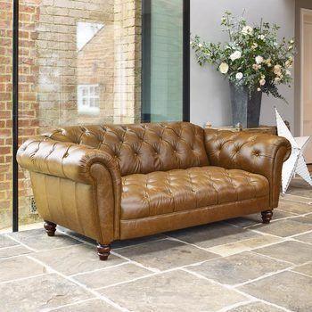 Stupendous Wellington 2 Seater Semi Aniline Leather Chesterfield Sofa Machost Co Dining Chair Design Ideas Machostcouk