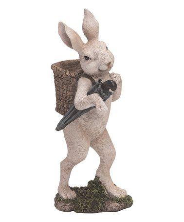 Melrose Resin Rabbits with Umbrella