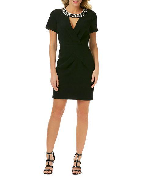 d72a326f049d Brands | Little Black Dresses | Embellished Sheath Dress | Lord and Taylor