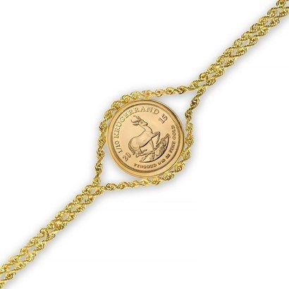 2015 1 10 Oz Gold Krugerrand Bracelet Polished Rope Gold Krugerrand Gold Bullion Gold Bullion Coins