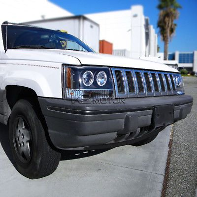 Details About 1993 1996 Jeep Grand Cherokee Halo Projector