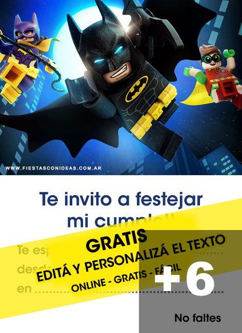 Tarjeta De Cumpleaños De Batman Para Editar Personalizar E