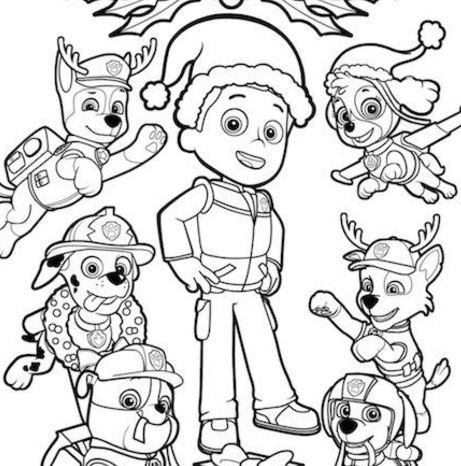 Paw Patrol Rocky Skye And Zuma Coloring Page Free Coloring Pages Online In 2020 Paw Patrol Christmas Christmas Coloring Printables Paw Patrol Coloring Pages