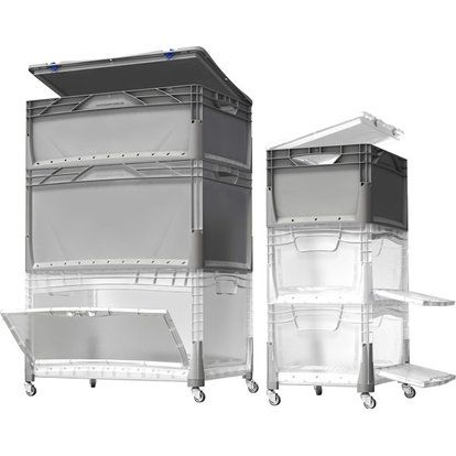 Obi Eurobox System Tauro Box Flap Side 40 X 30 X 22 Cm Transparent Kaufen Bei Obi Box Aufbewahrungsbox Obi