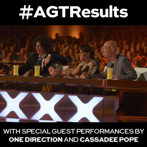 #AGTResults live from Radio City tonight, plus Cassadee Pope and One Direction perform!