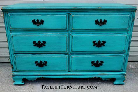 - Teal Painted Dresser Turquoise / Teal Furniture Pinterest