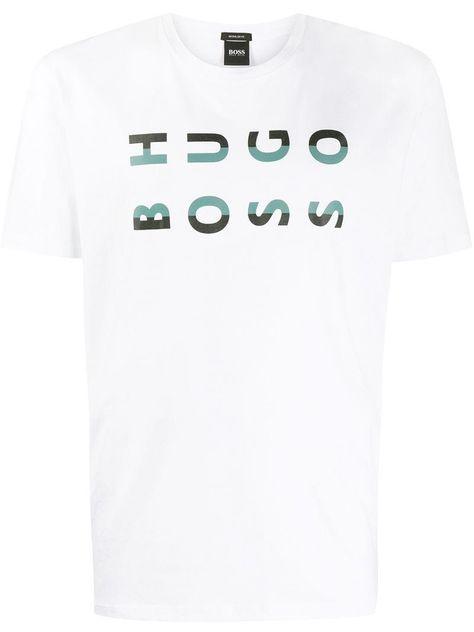 Hugo Boss Mens Tlax 1 Bhb Logo Tee with Waterbase Print