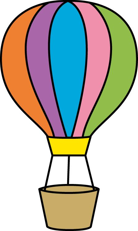Colorful Hot Air Balloon Clip Art - Colorful Hot Air Balloon Image