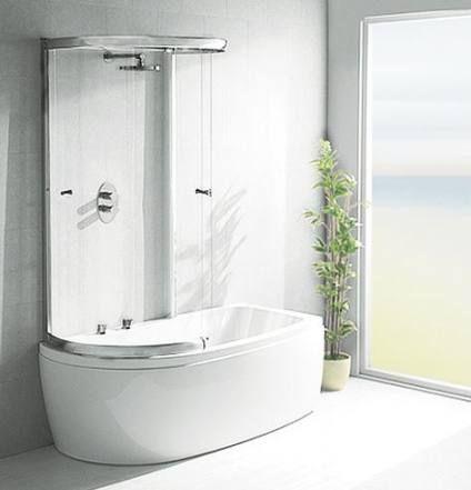 Bath Shower Combined Bathtubs 40 Ideas Bath Shower Screens Bathroom Shower Design Shower Over Bath