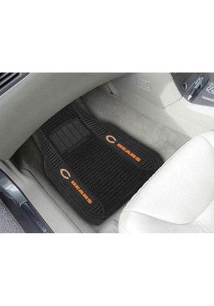 Protect Your Vehicle In Style With These Chicago Bears Deluxe Car Mats Deep Pockets Catch Dirt Hold Water Chicagob Chicago Shopping Chicago Bears Car Mats